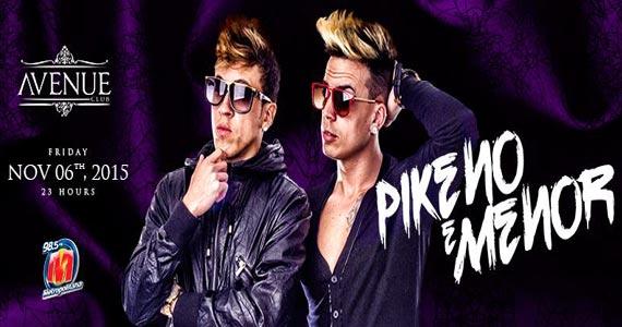 Mistura de pop e hip hop da dupla Pikeno e Menor agita a noite do Avenue Club Eventos BaresSP 570x300 imagem