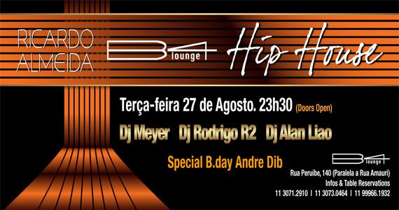 B4 Lounge recebe festa Hip House com DJs convidados para agitar a terça-feira Eventos BaresSP 570x300 imagem
