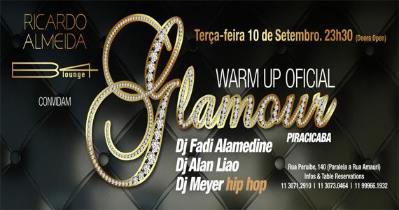 Terça-feira com Warm up Glamour e DJs convidados para agitar a noite na B4 Lounge Eventos BaresSP 570x300 imagem