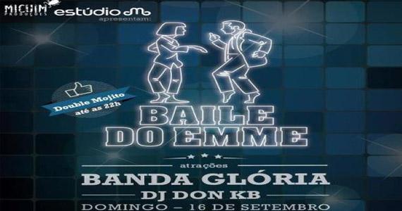 Estúdio Emme realiza o Baile do Emme com a Banda Glória neste domingo Eventos BaresSP 570x300 imagem