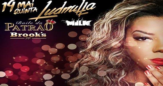 Baile do Patrão agita a Brook's SP com show da cantora Ludmilla Eventos BaresSP 570x300 imagem