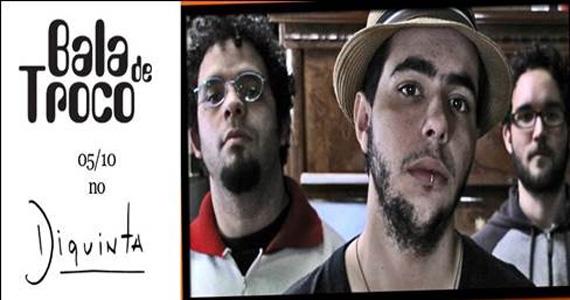 Banda Bala de Troco se apresenta no palco do Diquinta nesta sexta-feira Eventos BaresSP 570x300 imagem