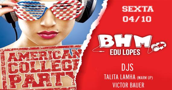 Ballroom recebe 2ª edição da festa American College Party com DJs animando a sexta-feira Eventos BaresSP 570x300 imagem