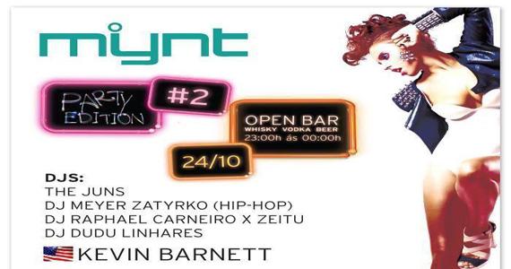 Ballroom recebe a festa Mynt com DJs agitando a noite de quinta-feira Eventos BaresSP 570x300 imagem