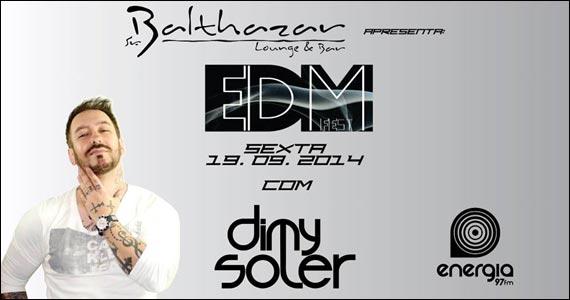 Sr. Balthazar Lounge & Bar apresenta EDM Fest com DJ Dimy Soler Eventos BaresSP 570x300 imagem