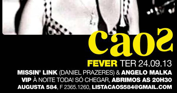 Festa Fever agita a noite desta terça-feira com DJs no Bar Caos Eventos BaresSP 570x300 imagem