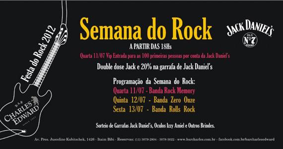 Banda Zero Onze se apresenta no Bar Charles Edward para comemorar o Dia Mundial do Rock Eventos BaresSP 570x300 imagem
