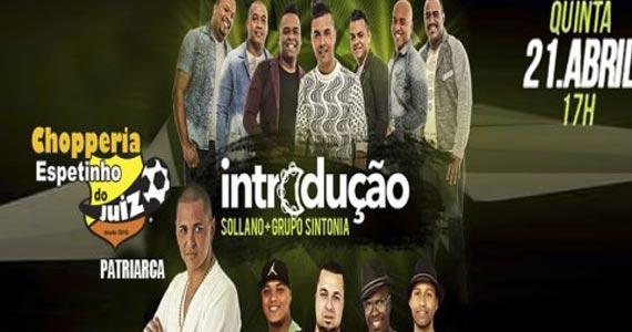 Sollano e grupos Introdução e Sintonia apresentam o melhor do samba no Bar Espetinho do Juiz no feriado Eventos BaresSP 570x300 imagem