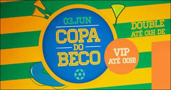 Beco 203 entra no clima da copa com programação especial e double drink Eventos BaresSP 570x300 imagem