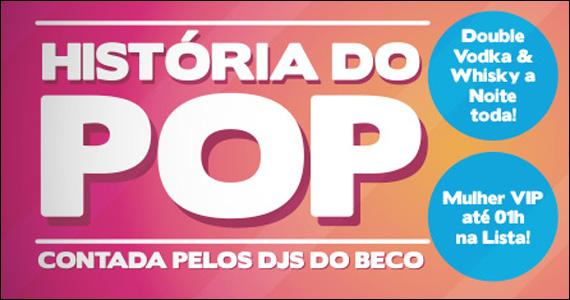 Beco 203 realiza a Noite História do Pop com DJs residentes Eventos BaresSP 570x300 imagem