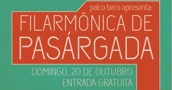 Nova banda Filarmônica de Pasárgada se apresenta neste domingo no Beco 203 Eventos BaresSP 570x300 imagem