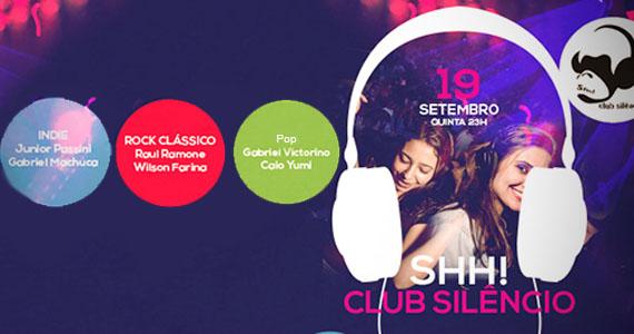 Festa Shh Club Silêncio acontece nesta quinta-feira no Beco 203 Eventos BaresSP 570x300 imagem