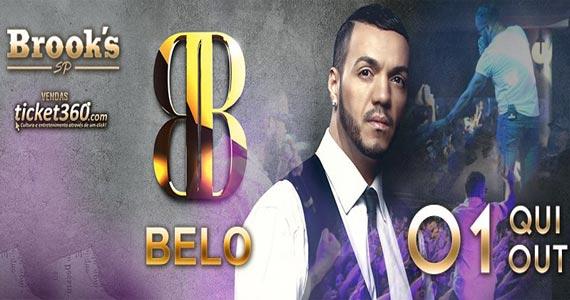 Cantor Belo canta seus sucessos animando o palco da Brooks SP Eventos BaresSP 570x300 imagem