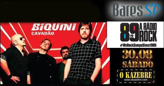 O Kazebre recebe o show da banda Biquíni Cavadão - 89 FM  Eventos BaresSP 570x300 imagem