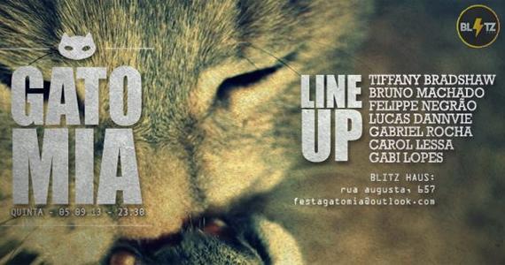 Festa Gato Mia agita a quinta-feira na Blitz Haus com blackouts e vale drinks Eventos BaresSP 570x300 imagem