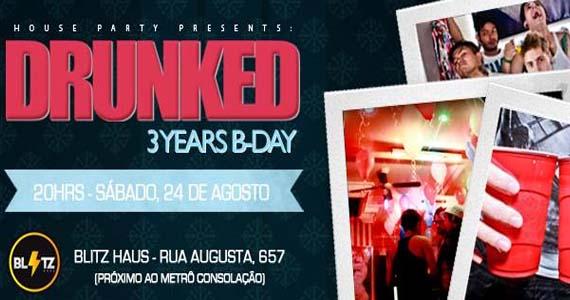 Blitz Haus realiza a festa Drunked House Party 3 anos com convidados Eventos BaresSP 570x300 imagem
