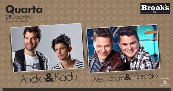 Quarta-feira tem André & Kadu e Alex Sandro & Marcelo agitando o palco da Brook's Eventos BaresSP 570x300 imagem