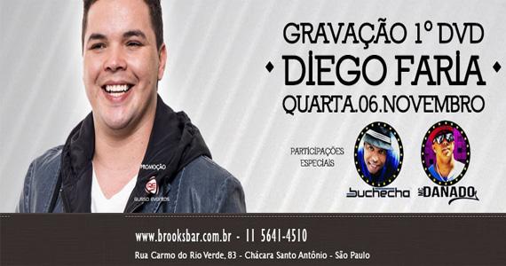 Diego Faria grava seu primeiro DVD na Brook's com Buchecha e MC Danado Eventos BaresSP 570x300 imagem