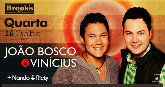 Dupla sertaneja João Bosco & Vinícius retorna ao palco da Brook's SP Eventos BaresSP 570x300 imagem