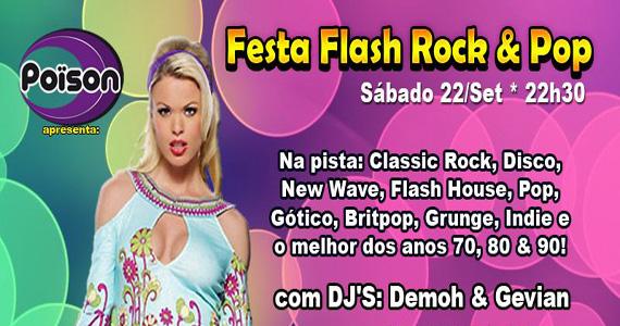 Festa Flash Rock & Pop anima a noite de sábado do Poïson Bar e Balada Eventos BaresSP 570x300 imagem