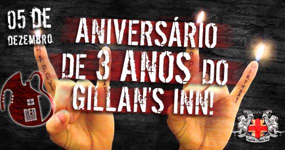Gillan's Inn comemora aniversário de 3 anos com a banda Red House nesta sexta-feira Eventos BaresSP 570x300 imagem