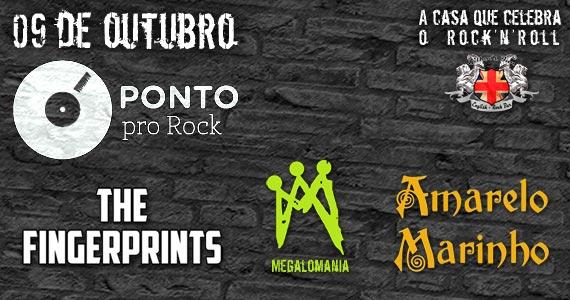 Ponto Pro Rock com bandas Megalomania , Amarelo Marinho e The Fingerprints nesta quinta-feira no Gillan's Inn Eventos BaresSP 570x300 imagem