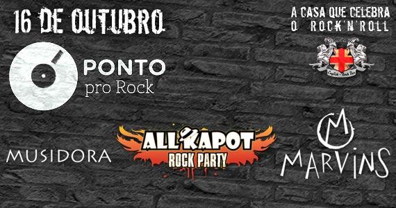 Ponto Pro Rock com as bandas Musidora, Marvins e Allkapot no Gillans Inn Eventos BaresSP 570x300 imagem
