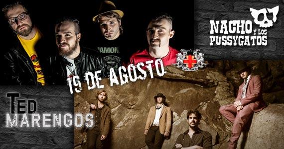 Nacho Y Los Pussygatos e Ted Marengos se apresentam no Gillan's Inn nesta sexta-feira com muito rock Eventos BaresSP 570x300 imagem