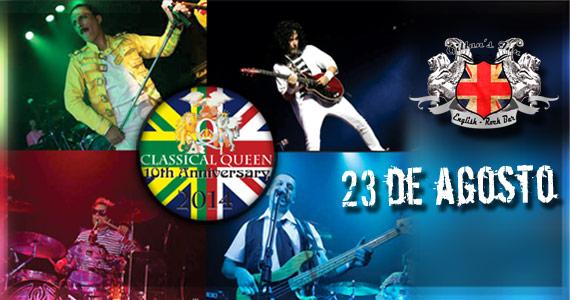 Banda Classical Queen comanda a noite de sábado com muita animação no Gillans Inn Eventos BaresSP 570x300 imagem