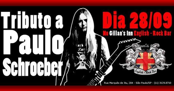 Tributo a Paulo Schroeber com músicos convidados neste domingo no Gillan's Inn Eventos BaresSP 570x300 imagem