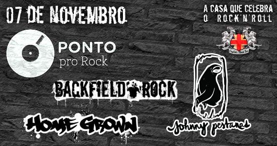 Projeto Ponto Pro Rock com bandas Backfield, Homegrown e Johnny Pestanas para animar a sexta-feira do Gillans Inn Eventos BaresSP 570x300 imagem