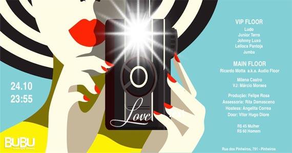 Bubu Lounge Disco promove a Festa Love com muitas atrações no sábado Eventos BaresSP 570x300 imagem