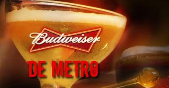 Buddies realiza desafio de quem bebe um metro de Budweiser mais rápido Eventos BaresSP 570x300 imagem