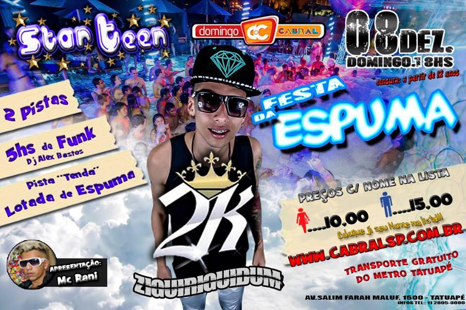 Festa da Espuma com MC 2K anima a noite de domingo no Cabral Eventos BaresSP 570x300 imagem