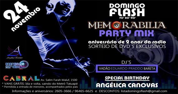Festa Domingo Flash anos 70, 80 e 90 com Djs agitando a pista do Cabral Eventos BaresSP 570x300 imagem
