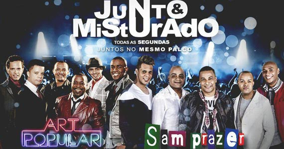 Show com Art Popular & Samprazer juntos e misturado no palco do Cabral