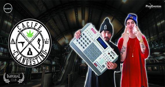 Cacife Clandestino embala o palco da Imperial Club no sábado a noite Eventos BaresSP 570x300 imagem