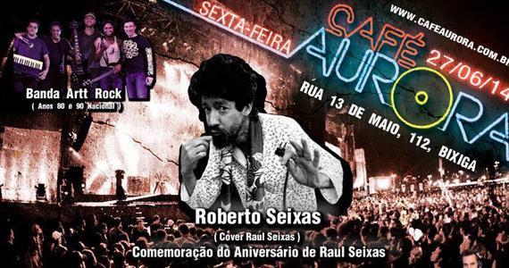 Café Aurora recebe cover de Raul Seixas nesta sexta-feira com Roberto Seixas - Rota do Rock Eventos BaresSP 570x300 imagem