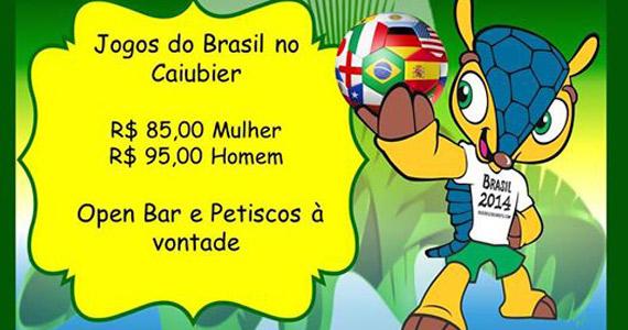 Caiubier transmite os principais lances do jogo do Brasil na sexta Eventos BaresSP 570x300 imagem