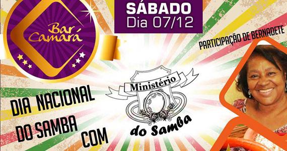 Ministério do Samba e Bernadete celebram o Dia Nacional do Samba no Bar Camará Eventos BaresSP 570x300 imagem