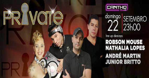 DJs comandam mais uma edição da festa Private na Cantho neste domingo Eventos BaresSP 570x300 imagem