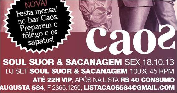 Caos apresenta a Nova Festa Mensal Soul Suor & Sacanagem nesta sexta Eventos BaresSP 570x300 imagem