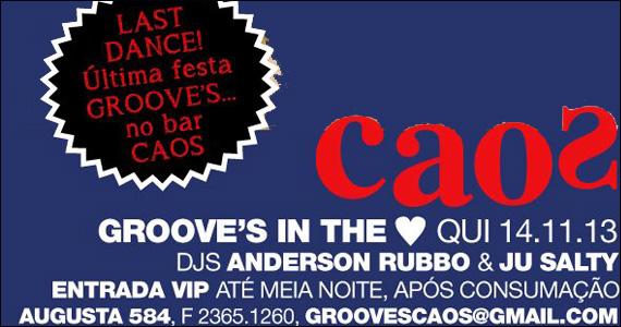 Bar Caos embala a noite com a Festa Groove's In The Heart Eventos BaresSP 570x300 imagem