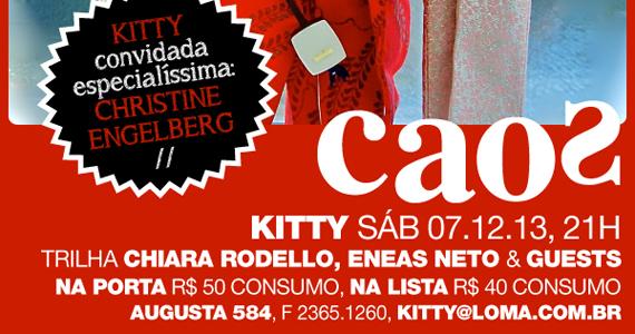 Festa Kitty com DJs agitando a noite de sábado no Bar Caos Eventos BaresSP 570x300 imagem