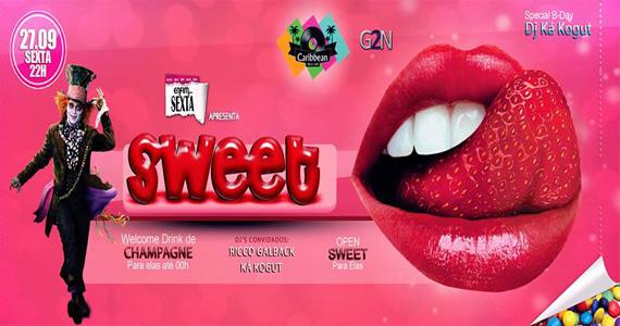 Caribbean Disco Club recebe festa Sweet para animar a noite desta sexta-feira com DJs Eventos BaresSP 570x300 imagem
