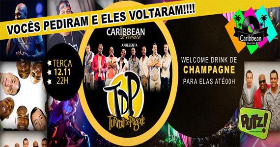 Turma do Pagode volta a esquentar a noite de terça-feira do Caribbean Disco Club Eventos BaresSP 570x300 imagem
