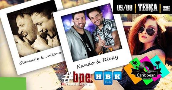 Especial Sertanejo com as duplas Nando & Rick e Giancarlo & Juliano no Caribbean Eventos BaresSP 570x300 imagem