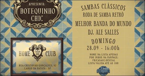 Casa 92 apresenta no domingo a Festa Botequinho Chic Eventos BaresSP 570x300 imagem
