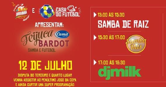Disputa do terceiro e quarto lugar com feijoada e samba com o grupo Melhor Banda do Mundo na Casa Pelé do Futebol Eventos BaresSP 570x300 imagem