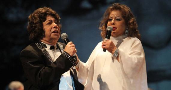 Ângela Maria & Cauby Peixoto com a turnê do álbum Reencontro no Teatro J. Safra Eventos BaresSP 570x300 imagem